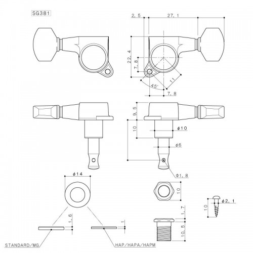 NUX NTU-2 HD PITCH Mini Pedal Tuner