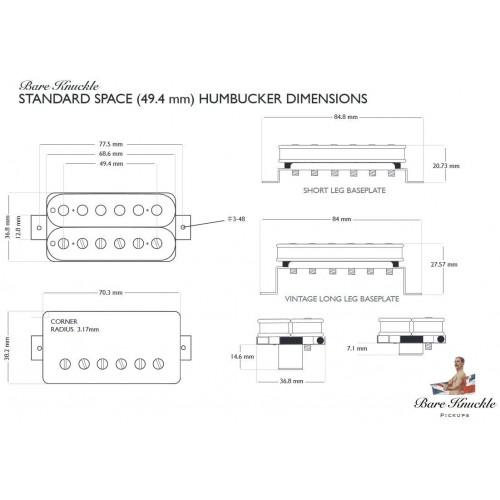 TONEPROS PONTE STANDARD TUNE-O-MATIC SMALL INSERTS NICKEL