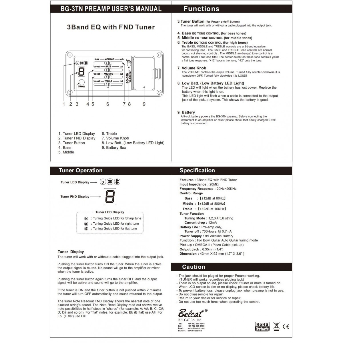 Free The Tone Cu-416 Black Cable 1 Mt